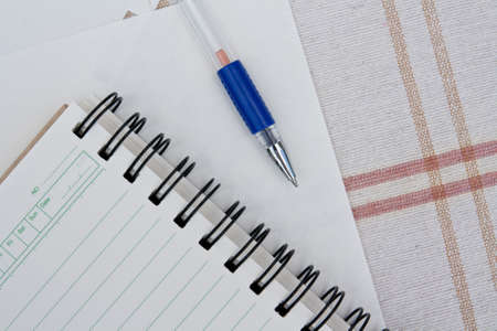 a pen on a spiral notebook. Stock Photo - 11787759