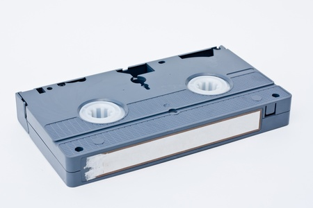 Retro Video tape cassete isolated on white background.  photo