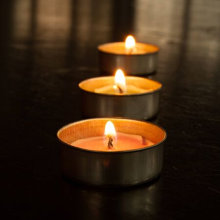 scented: Scented candles. Stock Photo