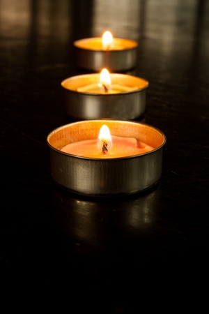 Scented candles. photo