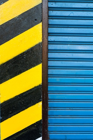 Close up of detail of slide door photo