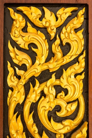 Thailand wood carvings  photo