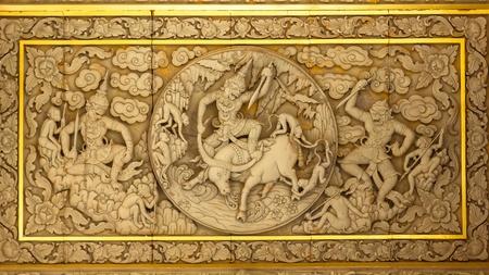 Thailand Holzschnitzereien Standard-Bild
