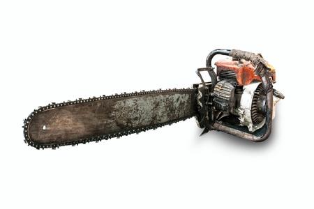 power saw: Chain saw Stock Photo