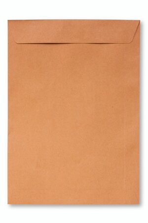 Brown Envelope on white background photo