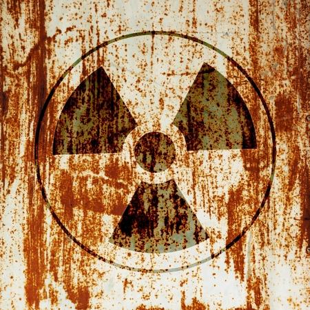 radiactividad: s�mbolo de advertencia de radiactividad Foto de archivo