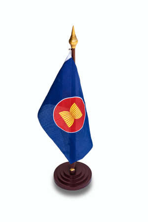 Flag, symbol of the ASEAN countries  photo