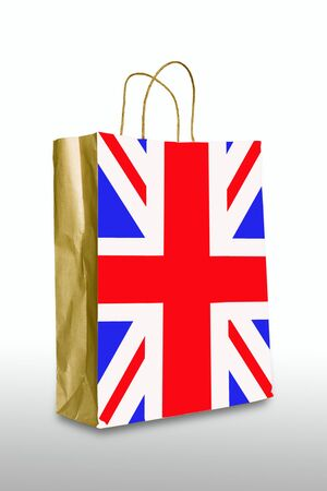 United kingdom bag isolated on white photo