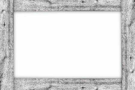 frame  box: Wood frame on white isolate background