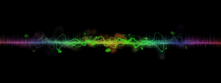 Abstract music sound wave Stock Photo