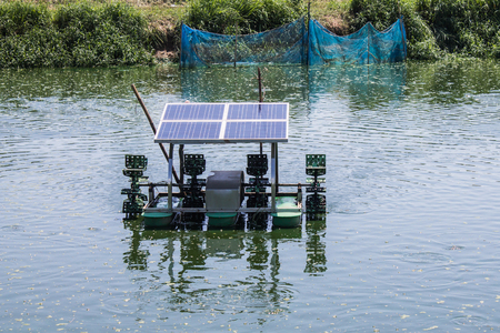 aerator: solar system aerator on the water