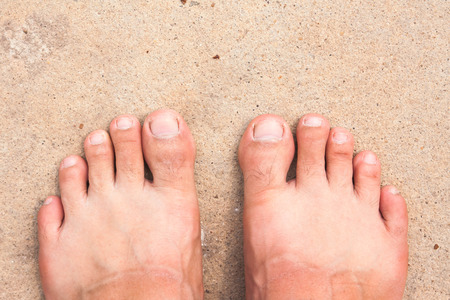 Close up of Bare Feet Stock Photo