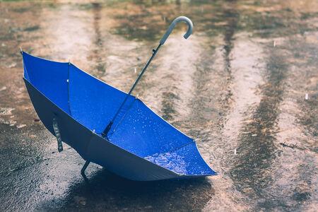 lluvia paraguas: paraguas en el tono de la vendimia