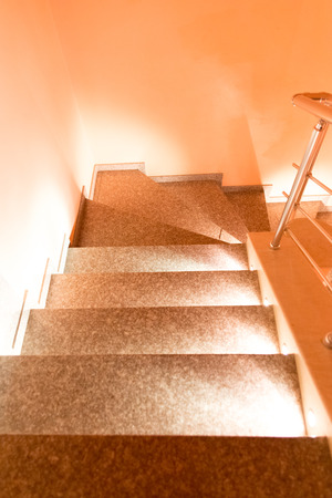 beautifully lighted staircase photo