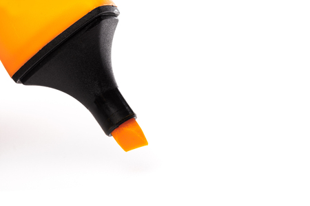 colour highlighter isolated over a white background, close up plan