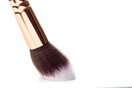make up brush powder blusher isolated on white background