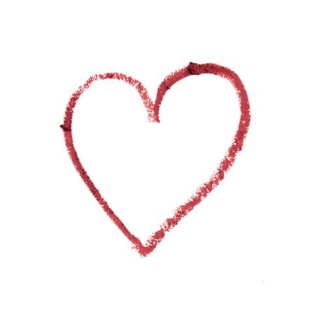 Liner or marker texture set, heart shape 스톡 콘텐츠