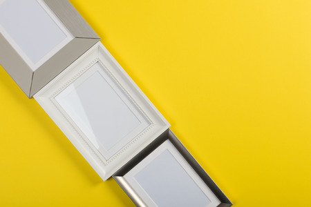 frames on yellow background