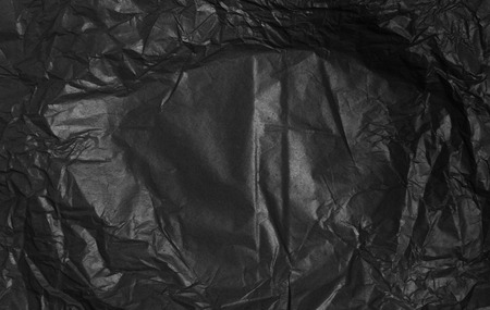 wrinkled black paper texture Stock Photo