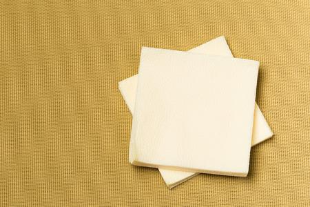 paper napkin on textured background Stock Photo - 116437042