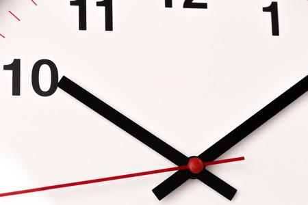 white clock, close up view