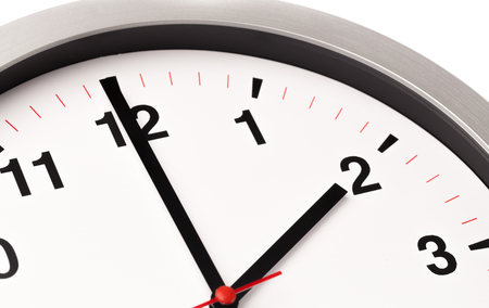 biały zegar, widok z bliska