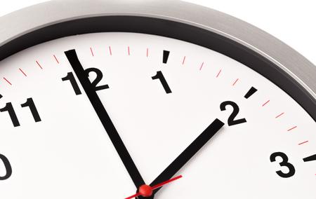 horloge blanche, vue rapprochée