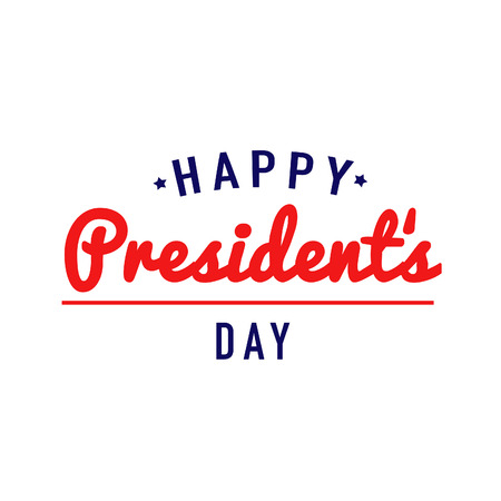 Happy Presidents Day Text Stock Photo
