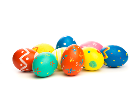 huevos de pascua, aislado, blanco, plano de fondo