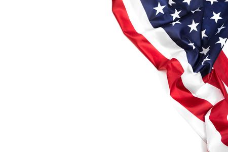 American flag border isolated on white - Image