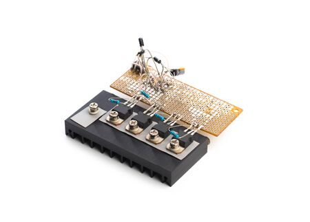 Electric board  isolated on a white background. - Image