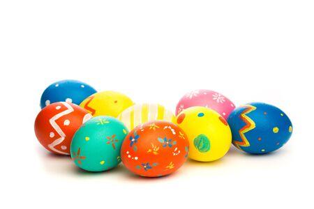 easter eggs isolated on white background Imagens