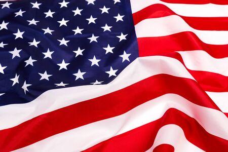 american flag isolated on white background - Image Reklamní fotografie