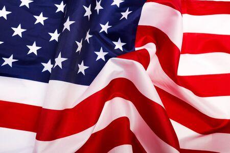 american flag isolated on white background - Image