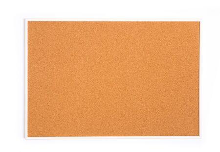 Leere Korkplatte mit Holzrahmen (isoliert) - Image