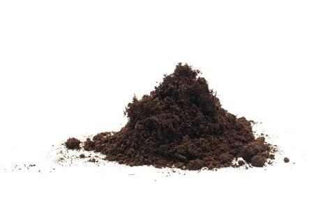pile of soil isolated on white background - Image