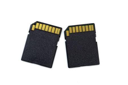 SD-Speicherkarte isoliert auf weißem Hintergrund.- Image Standard-Bild