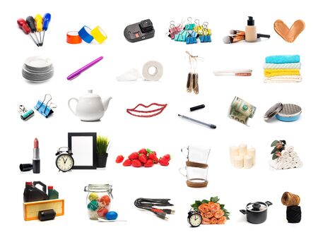 Different objects set isolated on white background - Image