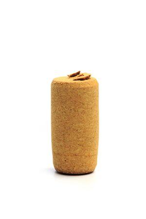 Wine corks isolated on white background - Image