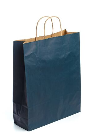 Paper bag on white background. Mockup for design - Image Stock Photo