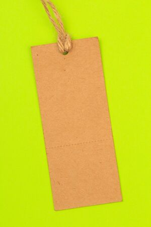 label (tag) on color  background. - Image 스톡 콘텐츠