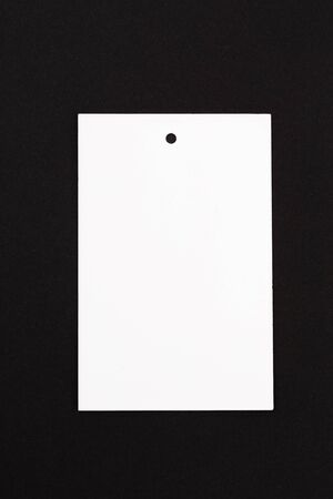 label (tag) on black background. - Image