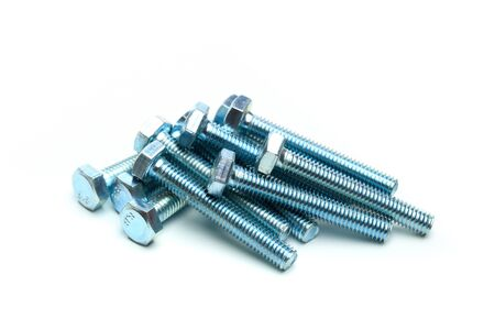 Screws isolated on white close up view - Image