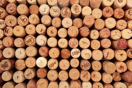 Butt ends of wine corks background - Image Reklamní fotografie