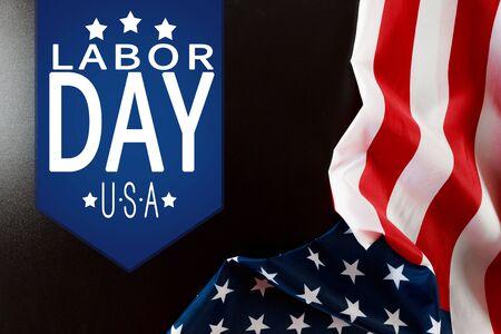 Happy Labor day banner, american patriotic background