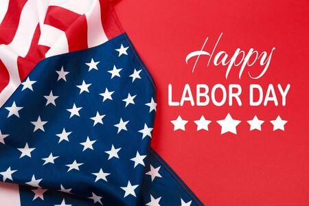 Happy Labor day banner, Amerikaanse patriottische achtergrond