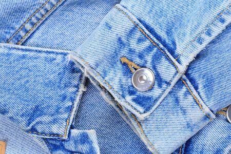 Denim jeans texture or denim jeans background with old torn. Banco de Imagens