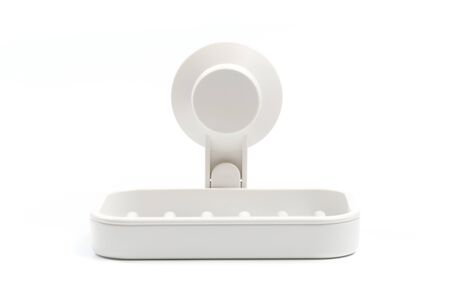 Soap on a soap dish on a white background. Imagens