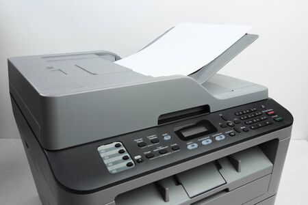 Close-up working printer scanner copier device