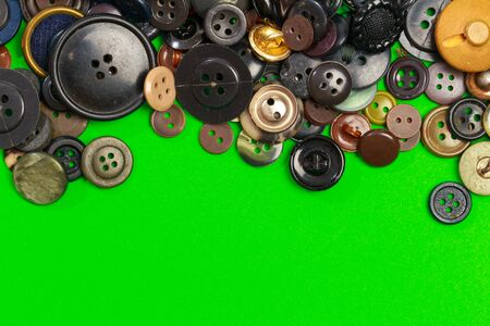 collection of various colored buttons on colored background - Image